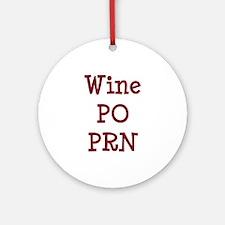 Wine PO PRN Ornament (Round)