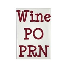 Wine PO PRN Rectangle Magnet