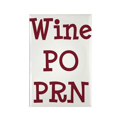 Wine PO PRN Rectangle Magnet