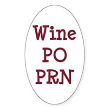 Wine PO PRN Decal