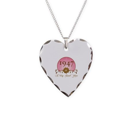 1947 A Very Good Year Necklace Heart Charm
