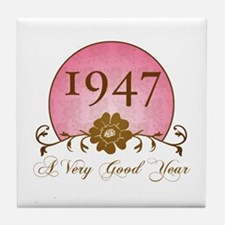 1947 A Very Good Year Tile Coaster