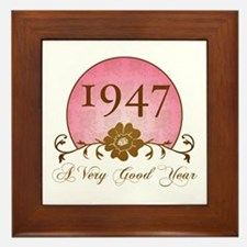 1947 A Very Good Year Framed Tile