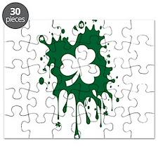 Irish Shamrock Splat Puzzle