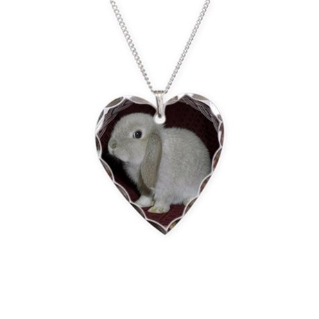 Little Lop Bunny Necklace Heart Charm