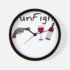 Gunfight Wall Clock