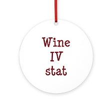 Wine IV Stat Ornament (Round)