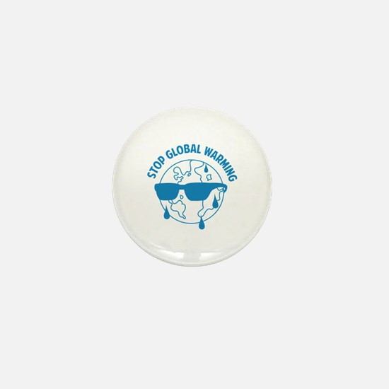 Stop Global Warming Mini Button (100 pack)