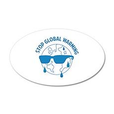 Stop Global Warming 22x14 Oval Wall Peel