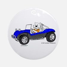 DUNE BUGGY CAT™ Ornament (Round)