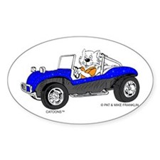 DUNE BUGGY CAT™ Bumper Stickers