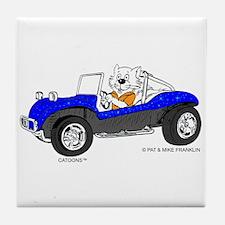 DUNE BUGGY CAT™ Tile Coaster