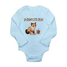 happy Hanukkah Long Sleeve Infant Bodysuit