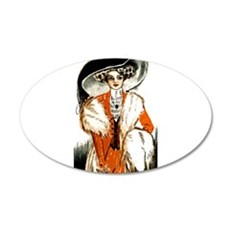 Pretty Lady Design 22x14 Oval Wall Peel
