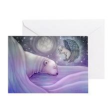 Polar bear and Angel Greeting Card