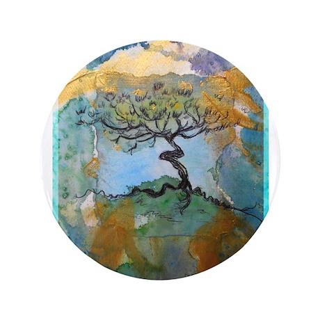 """Tree, beautiful, art, 3.5"""" Button"""