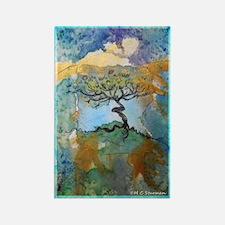 Tree, beautiful, art, Rectangle Magnet