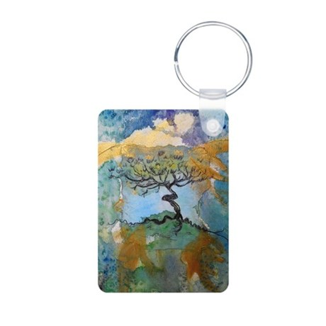 Tree, beautiful, art, Aluminum Photo Keychain