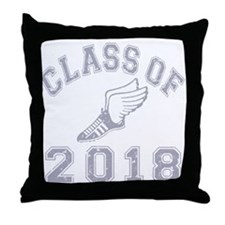 Class Of 2018 Track & Field Throw Pillow