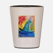 Sailboat, seascape Shot Glass