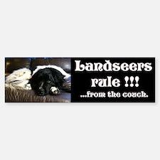 Landseers rule !!! Bumper Bumper Sticker