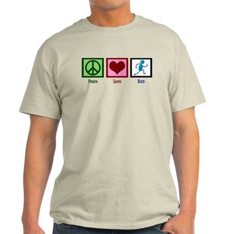 Peace Love Run Light T-Shirt