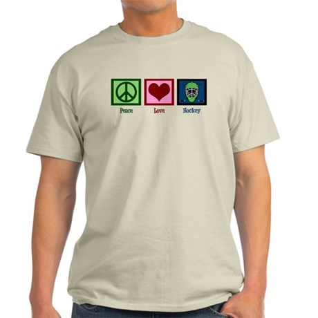 Peace Love Hockey Light T-Shirt