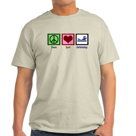 Peace Love Swimming Light T-Shirt