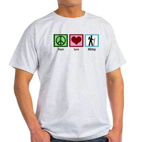 Peace Love Hiking Light T-Shirt