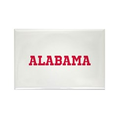 Crimson Alabama Rectangle Magnet