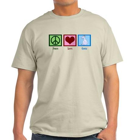 Peace Love Goats Light T-Shirt