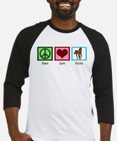 Peace Love Horses Baseball Jersey