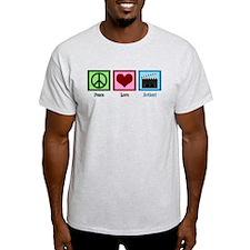 Peace Love Action! T-Shirt