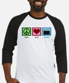 Peace Love Action! Baseball Jersey