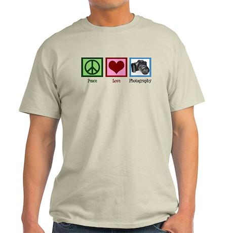 Peace Love Photography Light T-Shirt