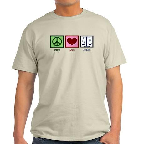 Peace Love Justice Light T-Shirt