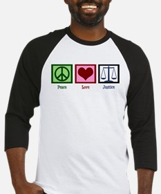 Peace Love Justice Baseball Jersey