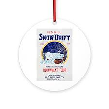 Cute Snow drift Ornament (Round)