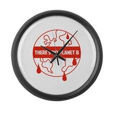 There's no planet B Large Wall Clock