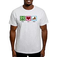 Peace Love Ice Skating T-Shirt