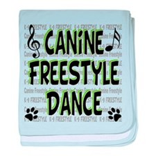 K9 Freestyle Dance baby blanket