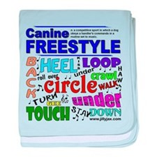 Canine Freestyle baby blanket