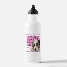 Australian Shepherd Pawprints Water Bottle