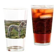 Vintage Bedlington Terrier Drinking Glass