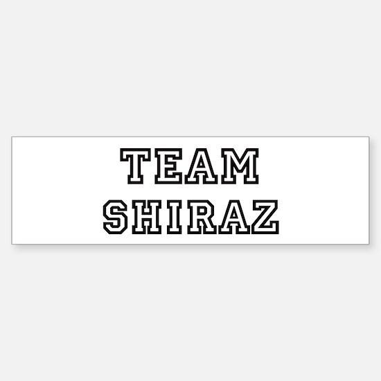 Team Shiraz Bumper Bumper Bumper Sticker