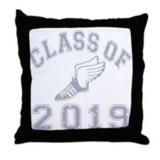 Class Of 2019 Track & Field Throw Pillow