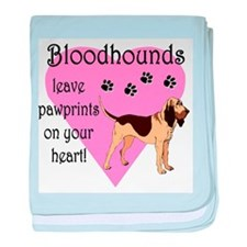 Bloodhound Pawprints baby blanket