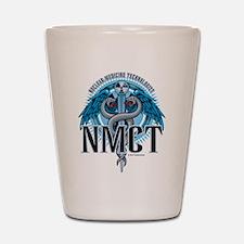 NMCT Caduceus Blue Shot Glass