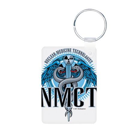 NMCT Caduceus Blue Aluminum Photo Keychain