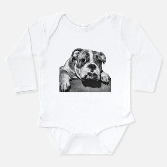 Bulldog Head Vintage-1 Long Sleeve Infant Bodysuit